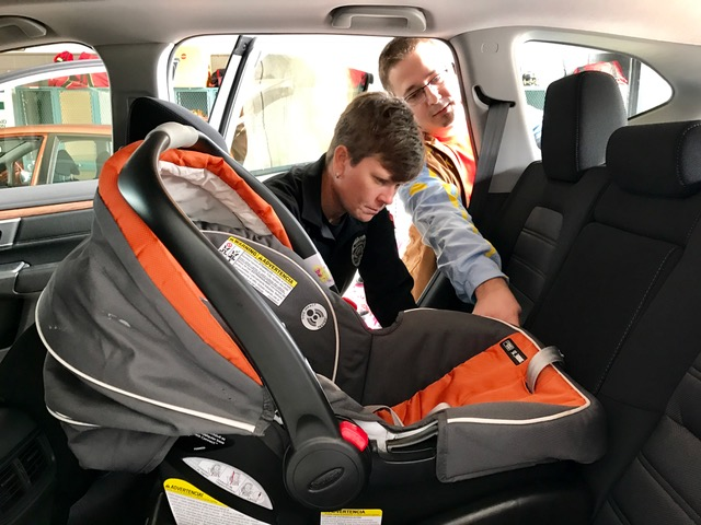 The January 14th Car Seat Check Was A Big Success Oak Ridge Police And Fire Department Personnel Along With Representatives From East Tennessee Childrens